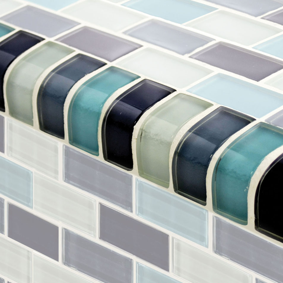 Glass tile trim artistry in mosaics aqua blend trim 12 trim gc82348t2 dailygadgetfo Images
